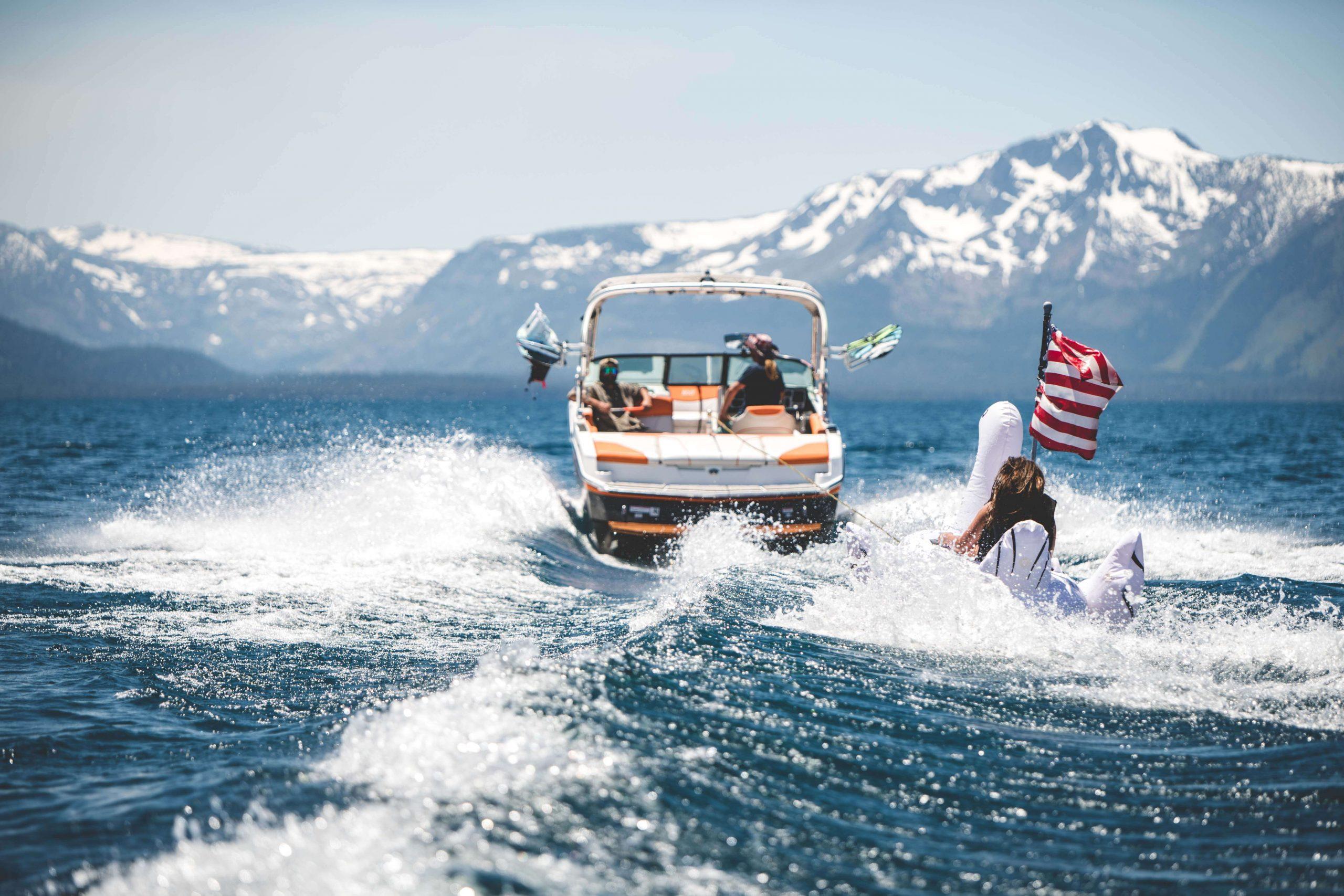 lake tahoe wakesurfing