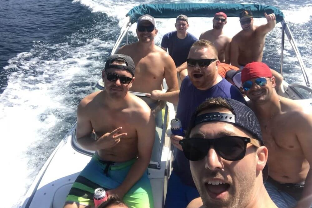 Bachelor party boat rental
